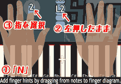 「N」指のヒントを追加する