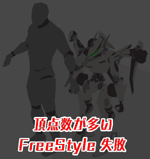 freestyle: failure There are many vertices