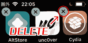 Remove it by pressing X in the top left corner of the Cydia app.