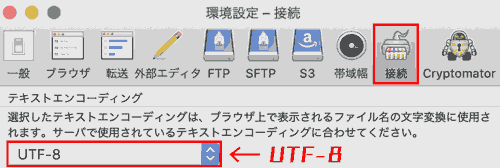 Go to Cyberduck menu bar -> Preferences... → Connect → Text Encoding → Set to UTF-8